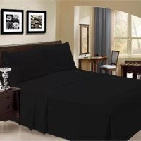 Known for their hypoallergenic, wrinkle-resistant, and temperature-regulating design, bamboo rayon sheets are a great option for outfitting your mattress. Take this four-piece sheet set for example: Made from a blend of 40% rayon from bamboo and 60% microfiber, this set includes one flat sheet, one fitted sheet (which accommodates mattresses up to 14