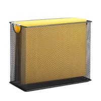 Organize important files in the home office or handwritten recipes in the kitchen with this understated file organizer. Featuring an openwork mesh design with two open handles, this organizer makes a subtle addition to your space, while its size lets you hold up to 12-25 medium-sized files. Available in a variety of colors, this piece is sure to blend into your palette.