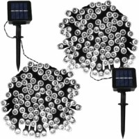 Turn any outdoor sitting space into a glimmering alfresco paradise with this must-have string of lights! Each of these 100 LED bulbs is powered by solar energy, making them a perfect pick for life out-of-doors, while the solar panel can be mounted in-ground in an appropriately sunny spot or using a detachable wall-mount. These bulbs tout an eight-hour battery life, so they're sure to shine during nighttime soirees with friends.