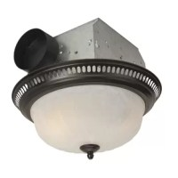 This low profile, yet decorative flushmount ceiling light is actually a powerful fan vent in disguise. Combine form and function with beautiful finishes, delicate glass, and stylish ventilation and illumination for a great improvement to any room!