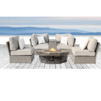 No matter the style or size of your outdoor living space, this fire pit 6 piece sofa set with ultrasoft cushions provides the perfect touch of warmth for your patio. With exclusive ultrasoft cushions and extra durable fire pit, this set comprises the perfect balance of beauty and functionality.