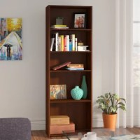 Equal parts versatile storage tool and clean-lined, contemporary accent in your space, this understated and chic bookcase brings a bit of simple style to your living room or den ensemble. Standing at 71