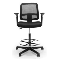 This seating is where quality meets value. This mesh back task stool features a soft mesh back, soft-pad adjustable arms, and plus built-in lumbar support. It features a height-adjustable foot ring to provide additional comfort and support. It also offers simple and intuitive controls such as gas lift seat height adjustment and 360 degree swivel for added customizability and comfort. The comfort, stylish look, and price point of this stool make it a perfect addition to the office, whether at...
