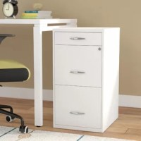 It's hard to get your work done if your space isn't organized. If you need to bring organizational appeal to your home office, this lovely filing cabinet is the perfect choice for your home. The two lower drawers are larger to accommodate for files, while the smaller top drawer is ideal for your office supplies. The two top drawers can also be locked for added protection. More than just functional, this steel cabinet is finished with a crisp white hue and showcases a clean-lined design and...