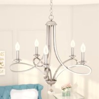Berger 5 - Light Candle Style Classic/Traditional Chandelier