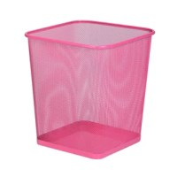 This Metal Trash is modern styling and sturdy construction combine in this steel mesh trash can. It's the perfect size for bathrooms, dorms and offices and works well with or without commonly available trash bags. The solid metal base keeps potential liquid spills contained. Create a contemporary, polished look with a trash can designed to last for years.