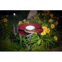 Beautify your garden and add attractive nighttime illumination at the same time. Poppy Solar Powered LED Pathway Light is both a beautiful accent piece to your garden decor while also providing bright nighttime illumination with its two solar powered LED's. Much brighter than standard solar lights, the Poppy Solar Powered LED Pathway Light has a 20 lumens output with a cool bright 6000K color temperature. Made from all weather powder coated steel construction, these decorative lights will add...