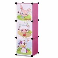 Children's 3 Level Collapsible Multipurpose Animal Themed Storage Organizer Cubes 14