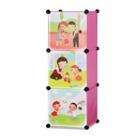 Children's 3 Level Collapsible Play Time Themed Multipurpose Storage Organizer Cubes 14