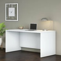 Choose this Office Desk Shell for a durable design that works hard for years with a fresh finish that looks great anywhere. With a thick surface, an extended modesty panel and clean lines, the office desk convey a classic look to meet the style needs of the modern workspace. The thermally fused laminate finish, durable edge banding, and sturdy end panels resist scratches, stains or dents while standing up to the rigors of a 40-plus hour workweek.