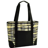 Extra large thermal shield insulated cooler bag from Paris collection, has a waterproof food safe and is perfect for picnics, outdoor events and trips to the market. Top zips fully closed, has a front pocket, and comfortable shoulder straps for easy carrying. Designed in the USA. Lifetime warranty.