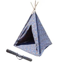 Children's Play Teepee with Carrying Bag brings hours of indoor and outdoor fun and creative play to your little-loved ones. Durable 240g poly-cotton material and the floor carpet of the same material protects the tender skin of little ones and gives them better feeling when sitting and playing inside the tent. Sturdy Eucalyptus wood posts give the tent strong support and cone-shaping. Special room offers enough playing space. Tie-back, dual-velcroed front door makes easy access. Animal-design...