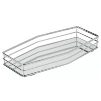 Larissa Double Rail Design Mirror Vanity Tray features a chrome finish and an attractive design to add the right touch of elegance. Fits easily on a bedroom dresser or bathroom countertop and is a perfect place to store your perfumes or guest toiletries.