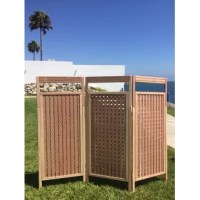 Perfect for a privacy setting with a little light, elegant and modern design. Set the screen up in a Z or U form according to requirements and space. It's great on outdoor areas such as pools, jacuzzis, gardens or inside ambiances such as bedrooms or living rooms.