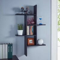 Short on square footage? Bring both storage and staging space to your ensemble with this essential wall shelf. It offers three tiers of shelving (or two if you install it horizontally) that give you room to place small potted succulents or a few framed photos. Understated enough for any aesthetic, its manufactured wood frame pairs a clean-lined silhouette with a neutral solid finish. Assembly required.