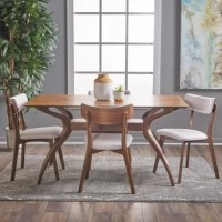 Taurean 5 Piece Solid Wood Dining Set
