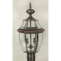 Blending a classic look with a versatile design, this post mount is just the thing to help you brighten up your outdoor space and complement your home decor all at once. Crafted from a combination of beveled glass and metal, this piece features an empire silhouette and turned finial for a traditional look in any space. Inside, this piece features two 60 W candelabra bulbs that help to both tie together the look and wash your space in light. Best of all, this piece is designed to be used in wet...