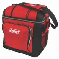 Enjoy cool beverages on the move with the Coleman 30 Can Picnic Cooler. This cooler includes a removable hard plastic liner for added functionality. The cooler has a back mesh pocket where you can keep a can or small snack. The adjustable shoulder strap allows you to carry it wherever you go. This cooler also has a front zippered pocket that allows you to keep your beverage can in it. This soft-sided cooler is made from fabric that makes it robust and reliable. It has bungees on the lid to hold...