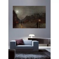 The original oil on board 'Going Home at Dusk' Graphic Art Print Poster is a great focal piece for display over any fireplace mantel or sofa.