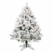 Accentuate the Christmas spirit this season by bringing in this Flocked Alaskan 4.5' White Artificial Christmas Tree with 300 Clear Lights with Stand. This Christmas tree will surely liven up your mood and blend in well with your home decor. Christmas is a joyous occasion that brings home joy and happiness. And what better way to decorate your home than to bring a beautiful Christmas tree to your household. You can even put artificial snow on the tree and a star on the top to further compliment...