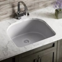 The MR Direct TruGranite sink comes in many different shades, all of which have the same exciting features; not the least of which is its TruGranite composition. A balance of 80% quartz and 20% acrylic, makes for a very dense, nearly impervious substance with a smooth non-porous finish that provides the sink with anti-bacterial properties. It is nearly impossible to scratch or stain because of its density, and it can withstand extreme temperatures - a dropped knife will not scratch, acidic...