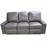Mirage Leather Reclining Sofa showcases an Italian design with over filled cushions. Mirage Leather Reclining Sofa has a back cushion and track arms. It is upholstered with high quality soft, top grain all-around leather materials. Its backs, arms and frames are also solid padded to offer support. The hardwood frame makes it sturdy and defines its look. Its seat has a comfortable sinuous spring seating suspension. The Omnia furniture Mirage Leather Reclining Sofa is a part of the enviably...