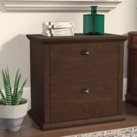 Keep your home office or workspace well-edited and free of clutter with this filing cabinet. Crafted from manufactured wood, this piece sports a clean, transitional look that fits right in with any aesthetic. Plus, it brims with storage solutions from top to bottom; with a place to store your printer on its flat surface, it showcases two drawers that are each set on smooth glides and offer a space tuck away your office essentials.