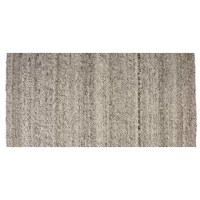 By blending soft, neutral tones, the overall look of this Hand-Woven Ash Gray Area Rug will complement virtually any home. Soft and warm underfoot, the felted wool feels like a mini massage for your feet!