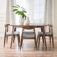 Millie 5 Piece Mid Century Solid Wood Dining Set