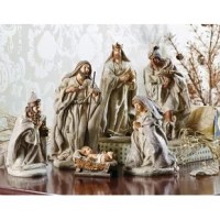 Bearing gifts, three kings traveled to bestow blessings upon baby Jesus by following a star in the east. Believing in faith, these three wise men form a spiritual collection that creates a classic seasonal scene.