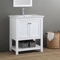 Brighten your bathroom or powder room with the clean, timeless, design of this vanity. This beautifully constructed vanity features panel solid wood doors with innovative soft close hinges to ensure they close silently and effortlessly every time.