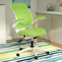 Introduce an ergonomic touch to your home office with this task chair, here to support you as you work from home or pen correspondences to friends. The base is fitted with caster wheels to make it easy to wheel around the room, while the seatback is fitted with mesh for breathability. Lumbar support, an adjustable height, and a seat tilt make sure you find the position you want every time.