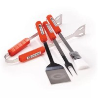 Fans of the Grilling Tool Set will love grilling up meats during the pre-game party with the BSI Products' NCAA 4-Piece BBQ Grill Tool Set that features the team logo. This grill tool set has four different tools for versatility and convenience. Enhance your outdoor serving capabilities with the NCAA 4-Piece BBQ Grill Tool Set from BSI Products. This grill tool set includes tongs, a brush, fork and laser etched spatula. Each piece is made of high quality stainless steel and has plastic...