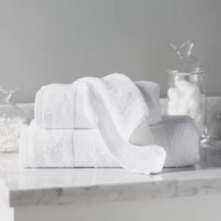 Bring spa-worthy appeal to your powder room or welcome visitors in the guest bath with this essential towel set, woven of Rayon from Bamboo and featuring a solid hue.
