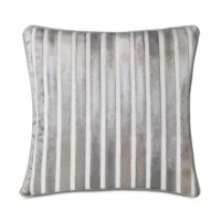Lustrous Vionnet takes glam chic to another level. This euro sham pillow is crafted from a shiny cut-velvet fabric featuring vertical stripes. Finished with a cord trim along the edge. From the metallic sheen of its duvet cover to the flapper-dress sparkle of its decorative pillow, this silver-tinged collection is both dazzling and luxurious.