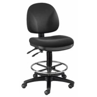 The Alvin and Co. Prestige Artist/Drafting Chair is a great choice for a contemporary style office decor. It is designed ergonomically and provides you with good support, which ensures that you would not feel fatigued. The chair is adjustable, which enables you to set it up as per your needs.  The chair is strong enough to support a heavy load consistently for a long duration of time. The well-cushioned seat and backrest provide you with unmatched comfort. The high-quality foam offers optimum...
