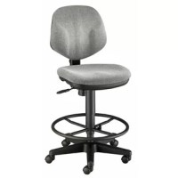 Ergonomically designed for long-lasting service and extra comfort. Features include pneumatic height control, polypropylene seat and back shells, a height and depth adjustable hinged backrest with spring-adjusted rocking mechanism, dual-wheel casters, and a reinforced nylon base.