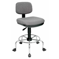 The Ruggedly constructed traditional chair that offers both comfort and durability. Features include pneumatic height control, a height, and depth adjustable hinged backrest with polypropylene back shell, dual-wheel casters, and a tubular chrome steel base with a built-in foot ring. Seat cushion is made of long-lasting, comfortable molded foam. Comes complete with a set of locking casters and a set of non-slip floor glides.