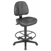 Ergonomic features in a rugged contemporary design, this is the ultimate in seating comfort at a reasonable price. Backrest provides solid orthopedic spine support and a full-size upholstered seat is contoured for added comfort. Features include pneumatic height control, polypropylene seat and back shells, a height- and depth-adjustable backrest with heavy-duty spring tension angle control, dual-wheel casters.