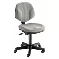 Ergonomically designed for long-lasting service and extra comfort. Features include pneumatic height control, polypropylene seat and back shells, a height and depth adjustable hinged backrest with spring-adjusted rocking mechanism, dual-wheel casters.
