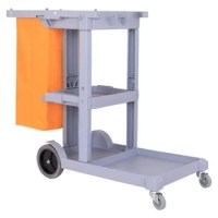 Collect waste and transport cleaning tools quickly and efficiently with the cart. Its smooth-rolling, easy to clean design is rugged and durable enough to last, even with daily use. Perfect for your home, but built tough for commercial establishments.
