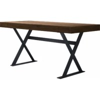 This Writing Desk is intelligent design gives form and functionality equal weight. Strategically placed side drawers allow easy access without having to slide out your seat. A luxurious wood veneer surface provides plenty of work space. Finally, the steel, geometric frame of this desk afford uninhibited motion and reinforced support for extensive use.