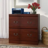 The classic character works its way into this practical piece for a design that's equal parts fashion and function. Crafted in the USA from solid wood in a cherry finish, this clean-lined file cabinet features two drawers (one of which locks) on extended runners with a safety catch that accommodate legal-, letter-, or European-sized documents. Included file bars make it easy to get organized, while bail pulls complete the look with a traditional touch. Best of all, the manufacturer backs this...