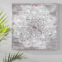 Got a blank wall that's bumming you out? Turn that empty space into a statement-making display with this eye-catching canvas print! Showcasing a sketched medallion with distressed details in hues of gray, it's sure to spark conversation while also blending into its environment with those neutral tones. Made in the USA, this piece is printed on cotton canvas and wrapped around a clean-lined wood frame for a look of gallery-worthy grace.