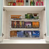 This space-saving Can Dispenser holds a variety of can shapes and reduces clutter in your kitchen. The can dispenser makes it easy to organize up to 27 standard-sized 15oz. cans, while the slanted design allows cans to slide the next can without denting or dropping other cans. Perfect for pantry, kitchen cabinet or kitchen counters.