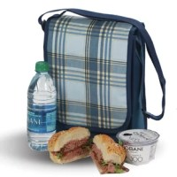 Take your lunch, drinks, snacks and fruit to school or work with this fully insulated structured lunch bag. Featuring an easy clean, food safe PEVA lining, 2 inside mesh pockets hold ice packs.