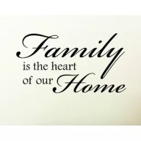 Add this super cool Family Is the Heart of Our Home Wall Decal to your decal collection. Sweet, simple, true. There is not much more to say about this one.