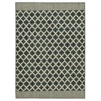 This Callihan Moroccan Lattice Dark Khaki/Cream Area Rug is based on a playful and vibrant endpaper from the Colonial Williamsburg archives. Endpapers were often used in the 17th and 18th centuries to decorate the inside covers and first and last pages of prized books. Marbled papers were extremely popular, although geometric shapes, fantastic birds, floral touches, and mythical creatures were often featured as well. Let inspiration from one such paper add a light-hearted flair to your doorstep!