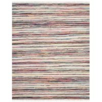A beloved American craft gets a fashion update with a chic cotton pile Sanchali Hand-Woven Ivory / Red Area Rug that injects trend-right color into a historic, timeless look. Perfect for casual rooms, these vibrant, textural rag rugs are woven by village artisans.