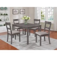 Wilmoth 5 Piece Solid Wood Dining Set